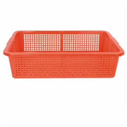 Thunder Group PLFB004R, 15 1/4x12 1/4-Inch Plastic Rectangular Colander without Handles, Red