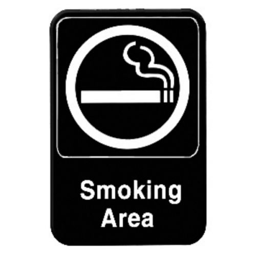 No Smoking Winco SGN-601 Sign 6-Inch by 9-Inch