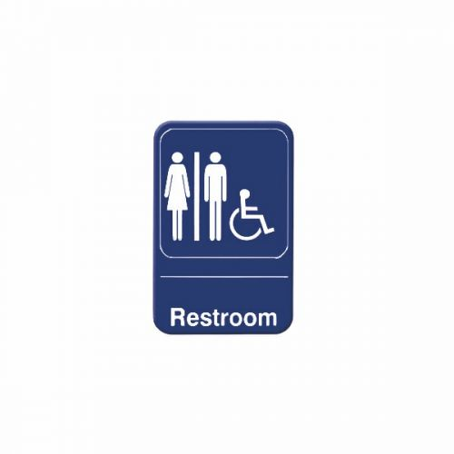 """9x3-Inch Information Sign Winco SGN-381W White /""""Exit/"""""""