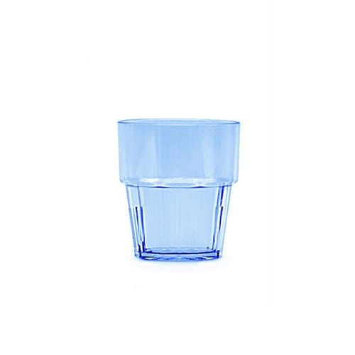 Thunder Group PLPCTB108BL 8 Oz Diamond Polycarbonate Blue Rock Glasses, DZ
