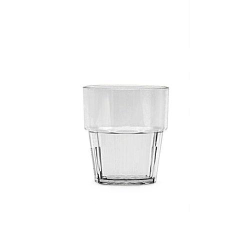 Thunder Group PLPCTB108CL 8 Oz Diamond Polycarbonate Clear Rock Glasses, DZ