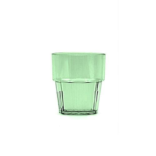 Thunder Group PLPCTB108GR 8 Oz Diamond Polycarbonate Green Rock Glasses, DZ