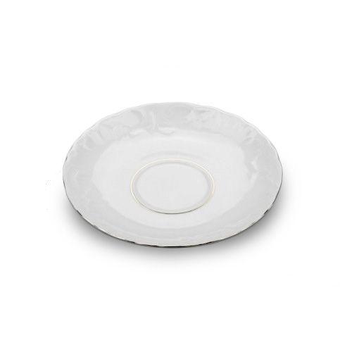 Cmielow PLSAUS-X, 6-Inch Platinum Band Porcelain Saucer, EA