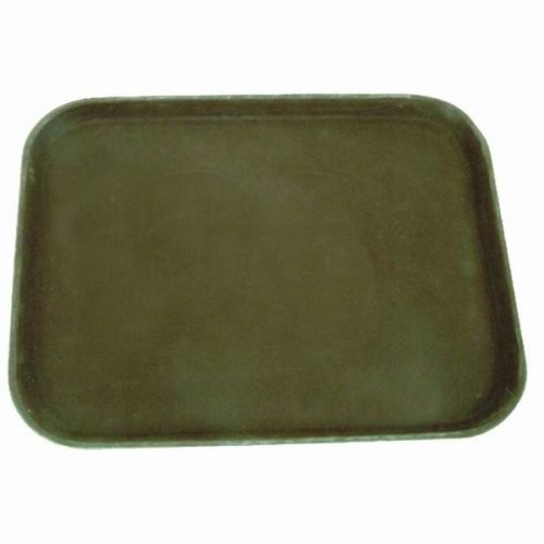 Thunder Group PLST1418BR, 14x18-Inch Polypropylene Rubber Lined Rectangular Serving Tray, Brown