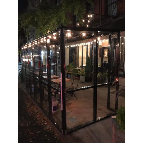 CGP 36-feet Acrylic and Aluminum Outdoor Dining Pod, Black Painted, OUTDINEPOD7B