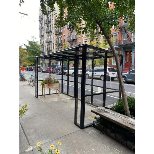 CGP 48-feet Acrylic and Aluminum Outdoor Dining Pod, Black Painted, OUTDINEPOD8B