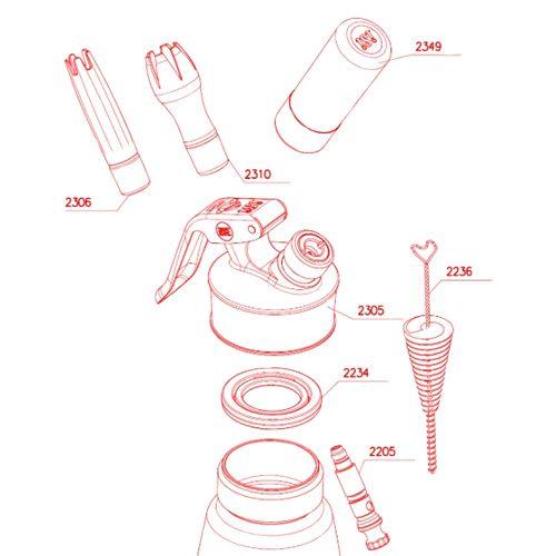 iSi 1630 01 Cream Profi Whip 1pt (1/2 L), EA