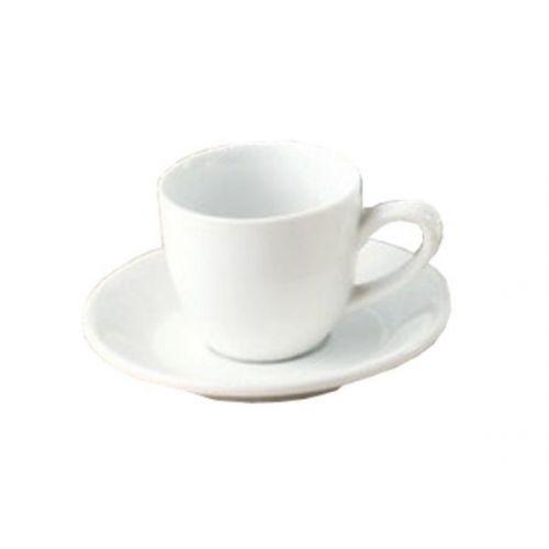 Yanco PS-36 4.5-Inch Piscataway Porcelain Round White Saucer, 36/CS