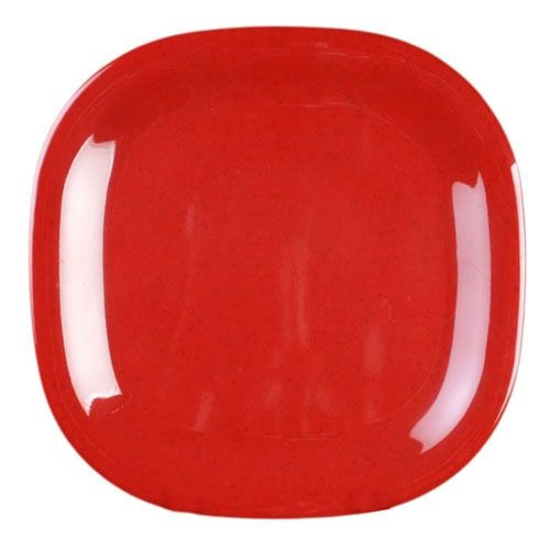 Thunder Group PS3014RD 14 Inch Western Passion Red Melamine Rounded Square Plate, EA