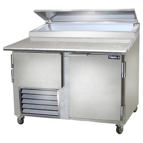 Leader PT48, 48x36x43-Inch Refrigerated Pizza Preparation Table, 15.2 Cu. Ft, Self-Contained, ETL Listed