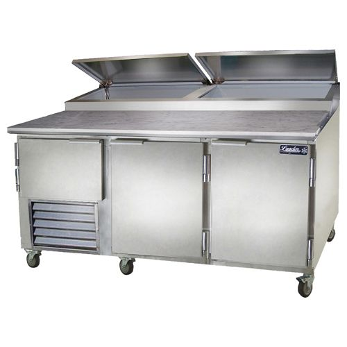 Leader ESPT72-M, 72x36x43-Inch Refrigerated Pizza Preparation Table, Marble Top, EA