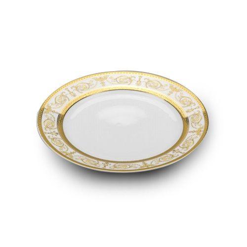 Cmielow PULS10X, 10.5-Inch Gold Band Pulaski Porcelain Plate, EA