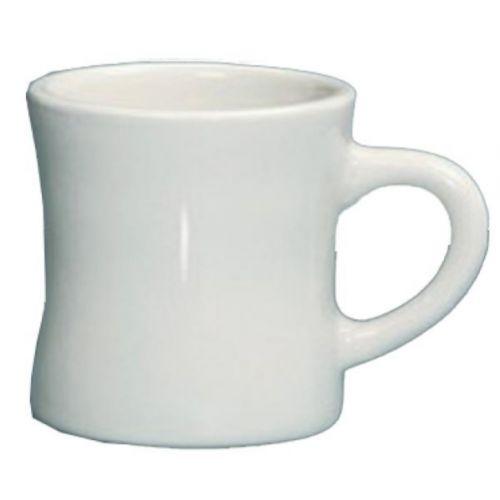 Yanco RE-75-H 8 Oz 3.5x3.5-Inch Recovery Porcelain Round American White Hartford Mug, 36/CS