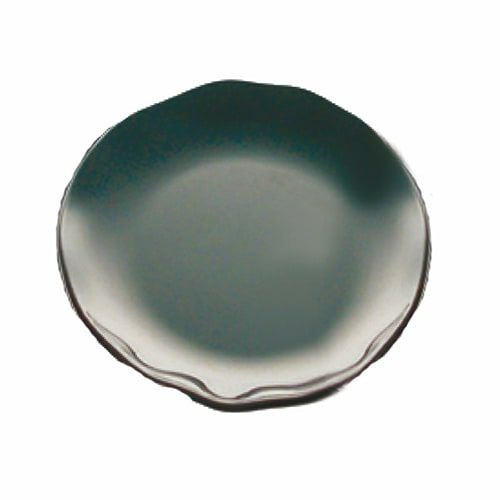 Thunder Group RF1006BW 8 1/8 Inch Western Black Pearl Round Melamine Two Tone Black Salad Plate, EA