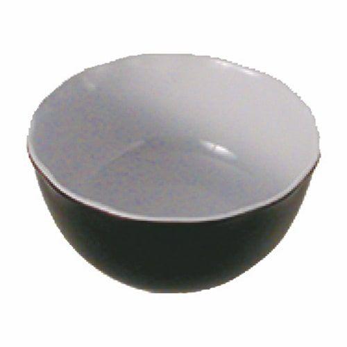 Thunder Group RF5065BW 36 Oz 6 1/2 Inch Western Black Pearl Melamine Two Tone Black All Purpose Bowl, EA
