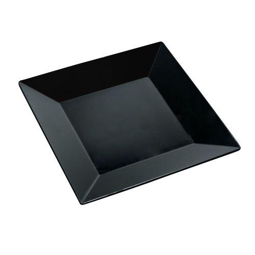 Yanco RM-106BK 6-Inch Rome Melamine Square Black Plate, 48/CS