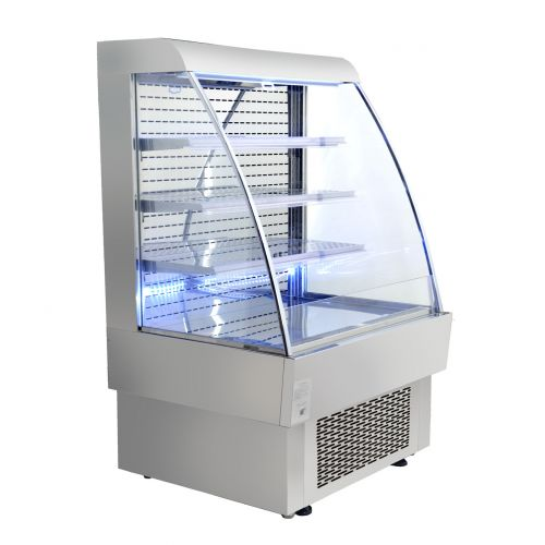 Omcan RS-CN-0380, 39.37x34.5x60.12-Inch Open Refrigerated Display Case, 13.42 Cu. Ft, cQPS, CSA