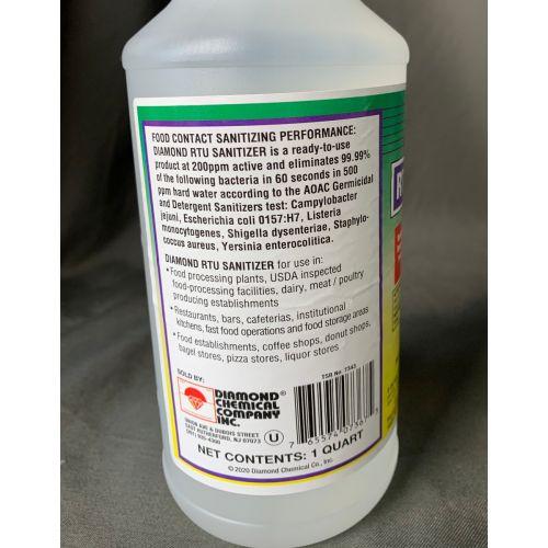 32 Oz RTU Sanitizer Spray For Institutional And Industrial Use, EA, RTUSAN32-X