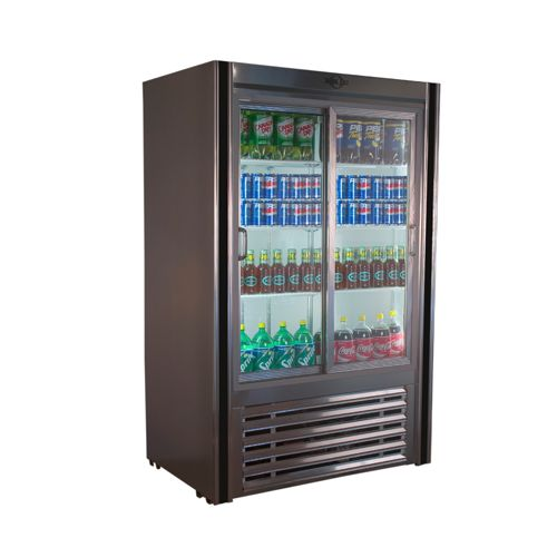 Universal Coolers RW-48-SC 48x30x75-Inch Beverage Cooler, Glass Sliding Doors, Self-Contained