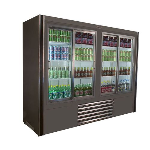 Universal Coolers RW-96-SC 96x30x75-Inch Beverage Cooler, Glass Sliding Doors, Self-Contained