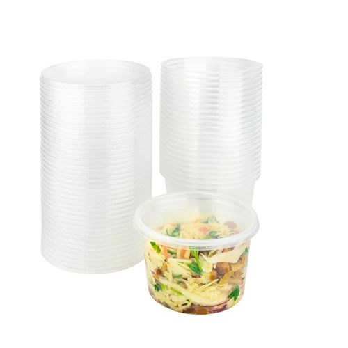 SafePro 16R, 16 Oz Clear Deli Containers, 500/Cs. Lids Are Sold Seperately.