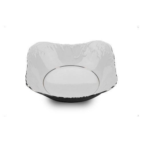 Cmielow SBPL27-X, 11-Inch Platinum Band Porcelain Salad Bowl, EA