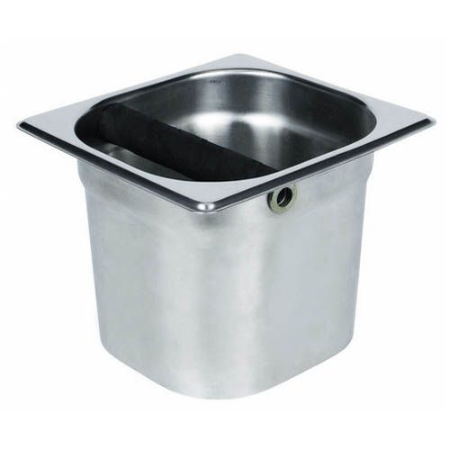 Winco SCD-5, 6.89x6.3x5.2-Inch Stainless Steel Coffee Dregres Pan