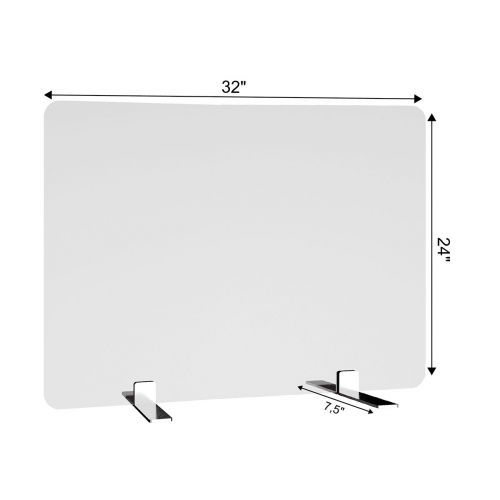 SDPM2 32x24-Inch Free-Standing Acrylic Protective Guard for Countertops w/ Medium Flat Legs 11.5-Inches