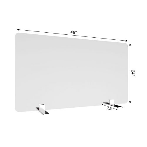 SDPM5 48x24-Inch Free-Standing Acrylic Protective Guard for Countertops w/ Medium Flat Legs 11.5-Inches