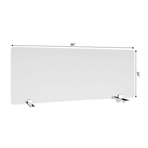 SDPS8 96x24-Inch Free-Standing Acrylic Protective Guard for Countertops w/ Small Flat Legs 7.5-Inches