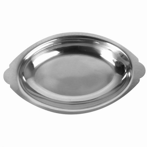 Thunder Group SLGT008, 8-Ounce Stainless Steel Oval Au Gratin Dish