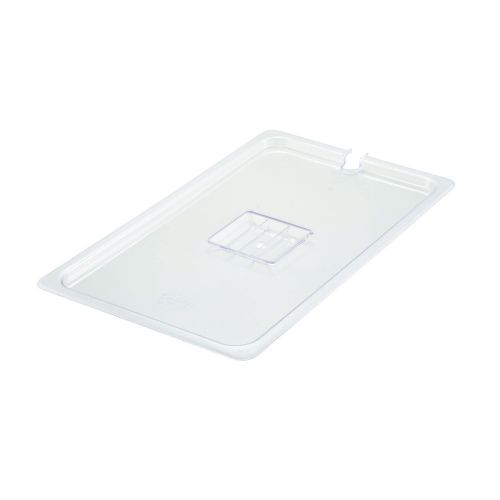Winco SP7100C, Full-Size Polycarbonate Food Pan Slotted Cover, NSF