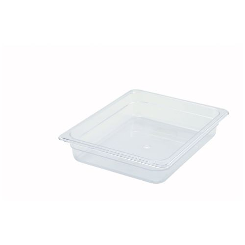 Winco SP7202, 2.5-Inch Deep Half-Size Polycarbonate Food Pan, NSF