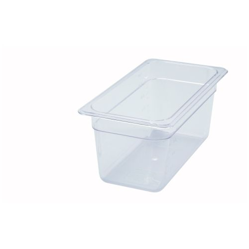 Winco SP7306, 6-Inch Deep One-Third Size Polycarbonate Food Pan, NSF