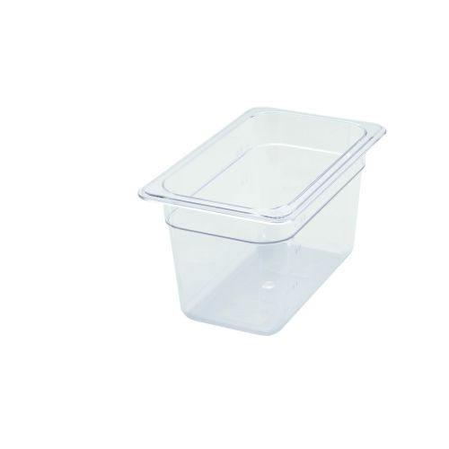 Winco SP7406, 6-Inch Deep One-Fourth Size Polycarbonate Food Pan, NSF