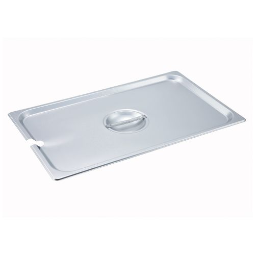 Winco SPCF, Full-Size Slotted Stainless Steel Steam Table Pan Cover, NSF