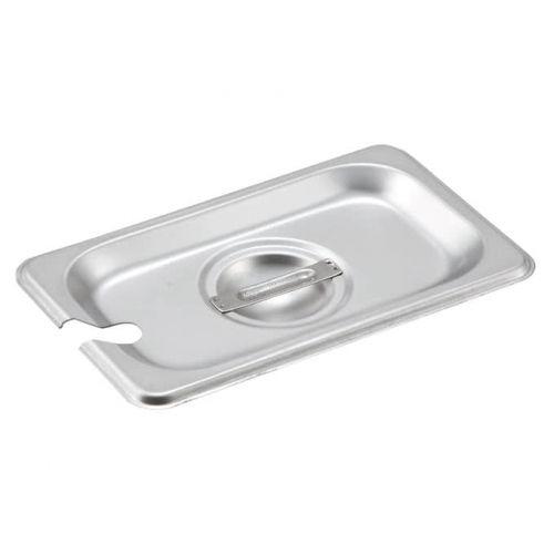 Winco SPCN-GN, Stainless Steel Steam Pan Cover for SPJH-906G/N, Slotted, NSF,