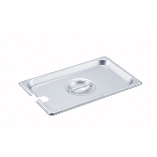 Winco SPCQ, Quarter-Size Slotted Stainless Steel Steam Table Pan Cover, NSF