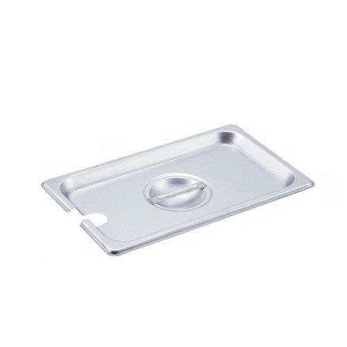 Winco SPCN, One-Ninth Size Slotted Stainless Steel Steam Table Pan Cover, NSF