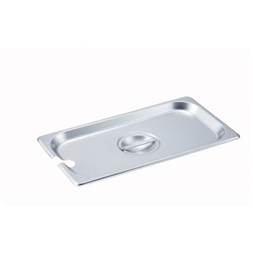 Winco SPCT, One-Third Size Slotted Stainless Steel Steam Table Pan Cover, NSF