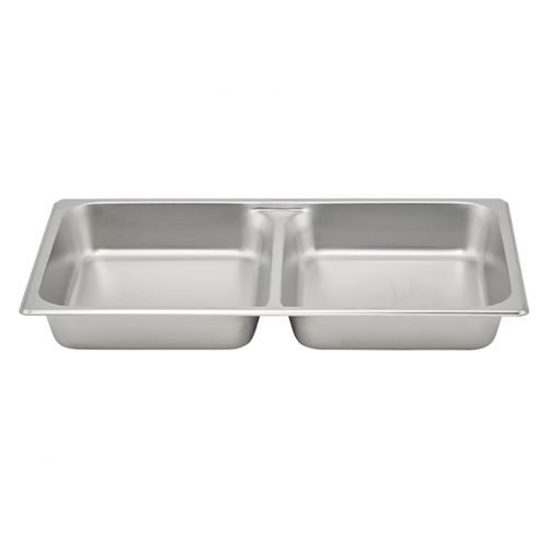 Winco SPFD2, 2.5-Inch Deep, Full-Size Stainless Steel Divided Steam Table Pan, NSF