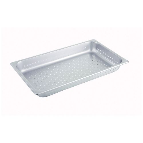 Winco SPFP2, 2.5-Inch Deep, Full-Size Stainless Steel Perforated Steam Table Pan, NSF