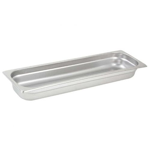 Winco SPJH-2HL, Anti-Jam Steam Pan, Half-Long, 2-1/2-inch, 22 Gauge Stainless Steel, NSF