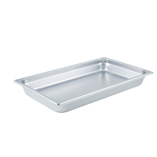 Winco SPJL-102, 2.5-Inch Deep Full-Size Anti-Jamming Steam Table Pan, 25 Gauge, NSF