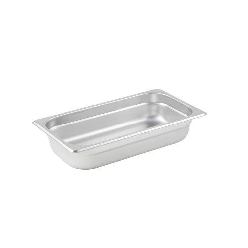 Winco SPJL-302, 2.5-Inch Deep, One-Third Size Anti-Jamming Steam Table Pan, 25 Gauge, NSF