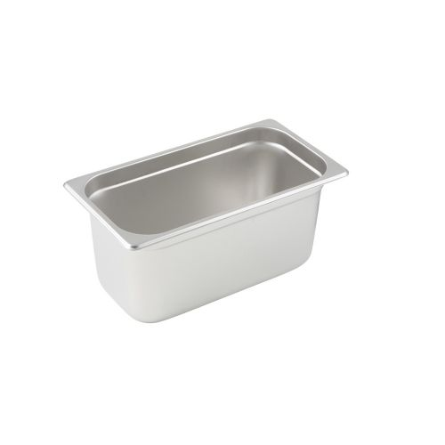 Winco SPJL-306, 6-Inch Deep, One-Third Size Anti-Jamming Steam Table Pan, 25 Gauge, NSF