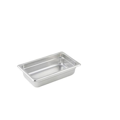 Winco SPJL-402, 2.5-Inch Deep, Quarter-Size Anti-Jamming Steam Table Pan, 25 Gauge, NSF