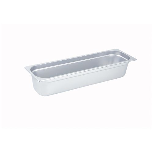 Winco SPJL-4HL, 4-Inch Deep, Half-Long Anti-Jamming Steam Table Pan, NSF