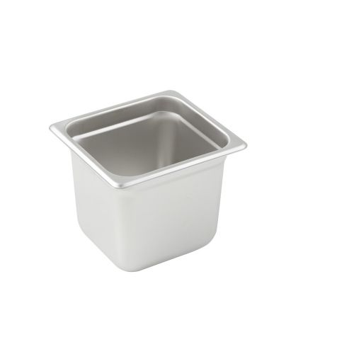 Winco SPJL-606, 6-Inch Deep, One-Sixth Size Anti-Jamming Steam Table Pan, 25 Gauge, NSF