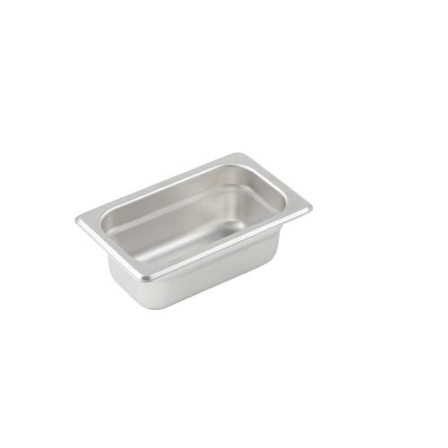 Winco SPJL-902, 2.5-Inch Deep, One-Ninth Size Anti-Jamming Steam Table Pan, 25 Gauge, NSF